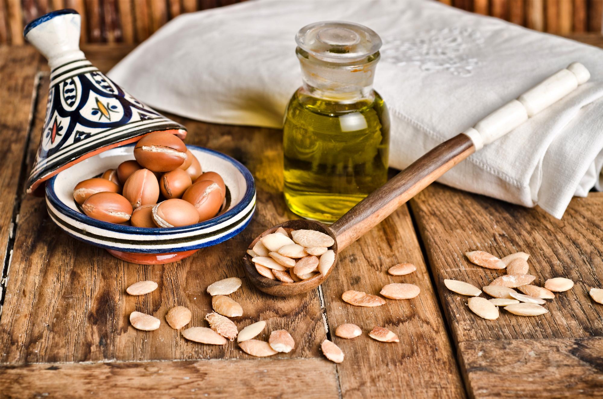 Argan frugt og olie